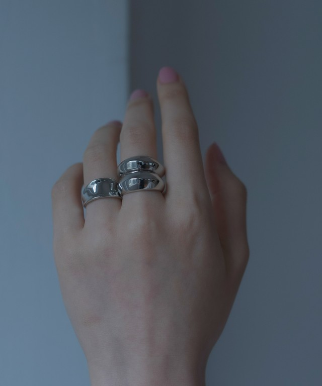 Disc & Dimple Ring 3 set