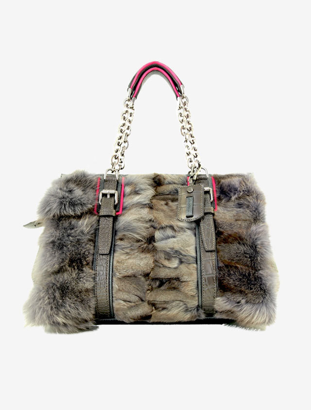 LONGCHAMP FOX FUR BAG