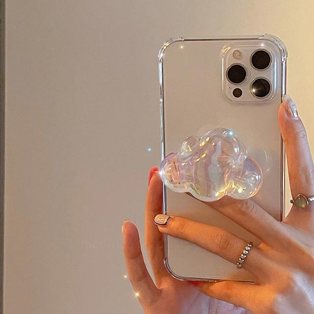 3D clear clouds iphone case