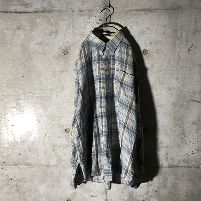 [TOMMY] flesh colour checked shirt