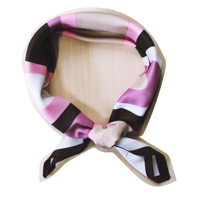 【古着】スカーフ2 ピンク×ブラウン