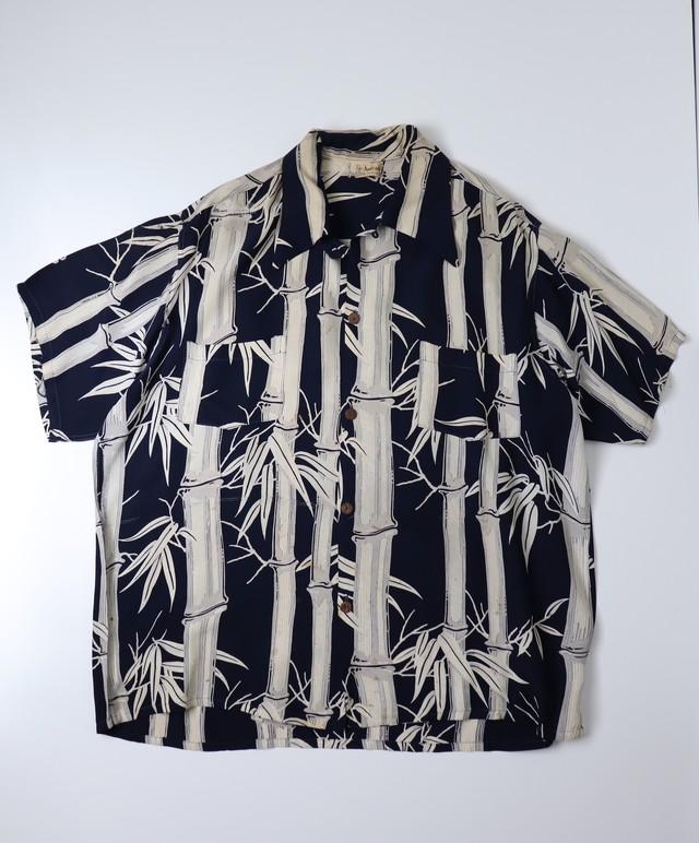 """ Andrade ""  40s-50s  Aloha shirts  アロハシャツ レーヨン 竹柄 和柄 A766"
