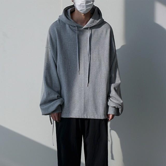 Loose pullover hoodie   b-432