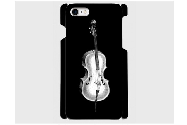 (iPhone用)チェロのスマホケース(黒)