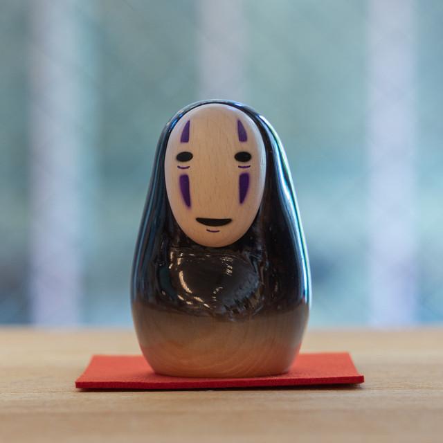 千と千尋の神隠し 置物 / オブジェ 木彫りのカオナシ(グラデーション/3457)