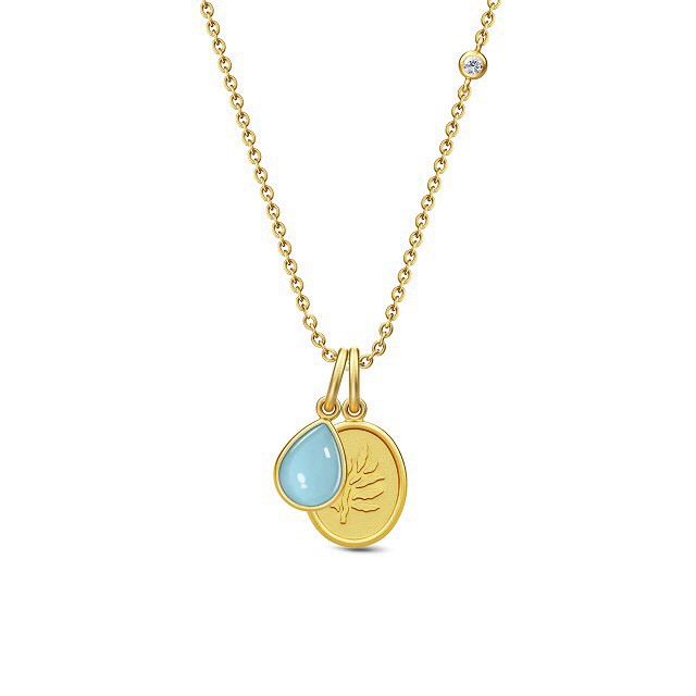 JULIE SANDLAU AURORA NECKLACE BLUE MOON