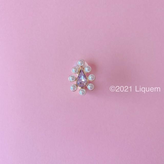 Liquem / ミニoneイヤリング(パール/グレープ)