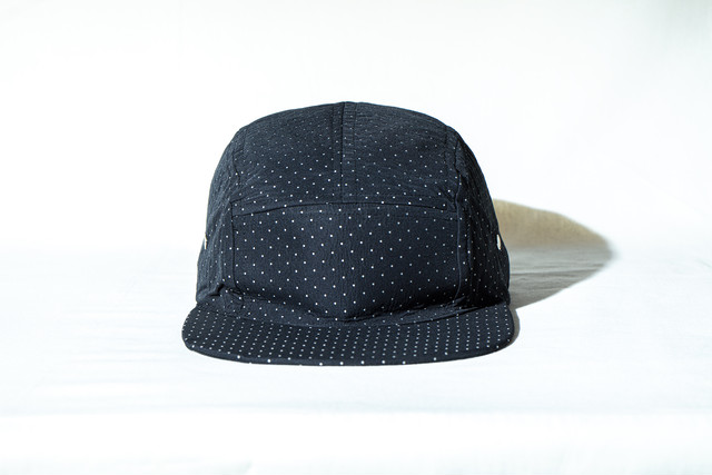 FUNCTIONAL CAMP 5panel Cap / BLACK dot