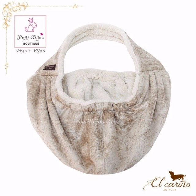 8。Petit Bijou【正規輸入】犬 猫 スリングバッグ うろこ調 秋 冬物 S