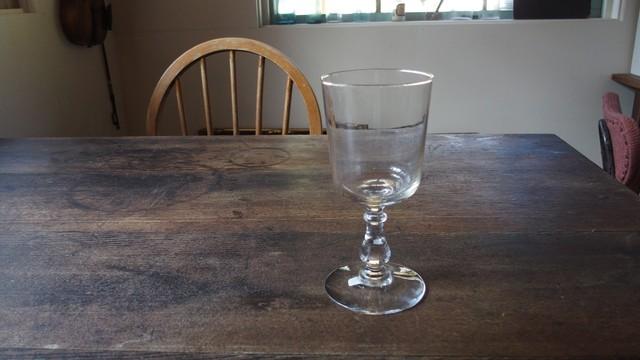 19世紀後期 吹きガラス製 ビストロ用ワイングラス