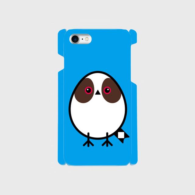 《癒やしの小鳥》シマエナガのオリジナルスマホケース(blue)【送料無料】