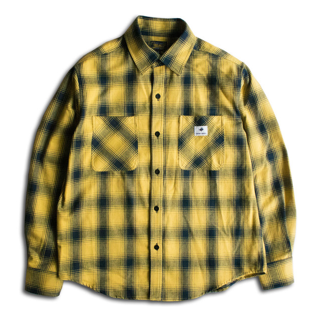 OMBRE CHECK L/S SHIRTS Yellow