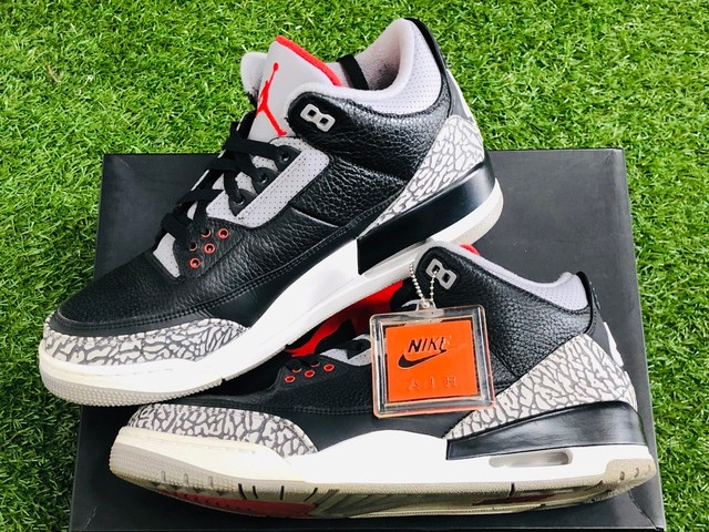 NIKE AIR JORDAN 3 RETRO OG BLACK CEMENT 854262-001 28.5cm 107.5JG7553