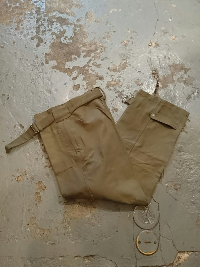 "40s ""FRENCH ARMY MOTOR CYCLE RIDING PANTS"" N.O.S"