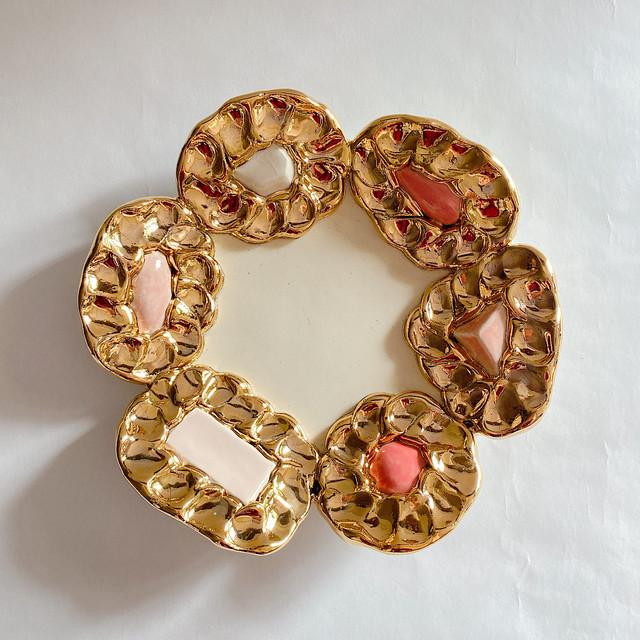 【Rey Yanagimoto】陶器・大ジュエリープレート(gorgeous jewel70)