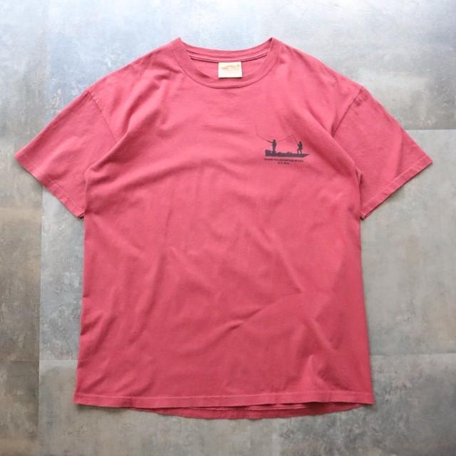 Dull pink back design tee