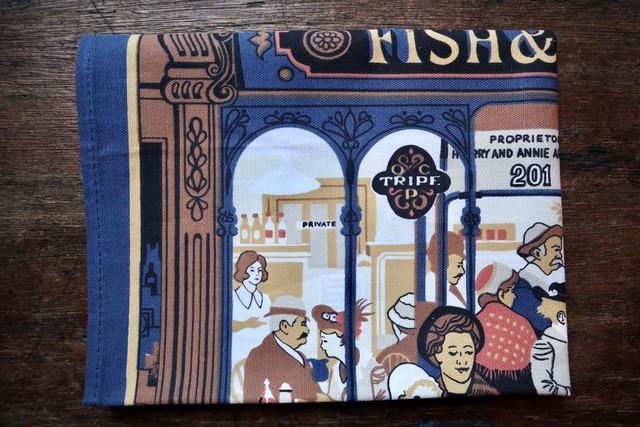 イギリス ティータオル FISH&CHIPS
