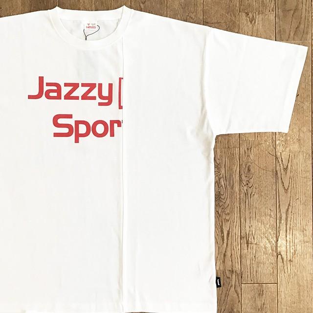 """【残りわずか】hummel × Jazzy Sport """"ロゴ"""" メッシュ ロングスリーブ/ホワイト×ブラック"""