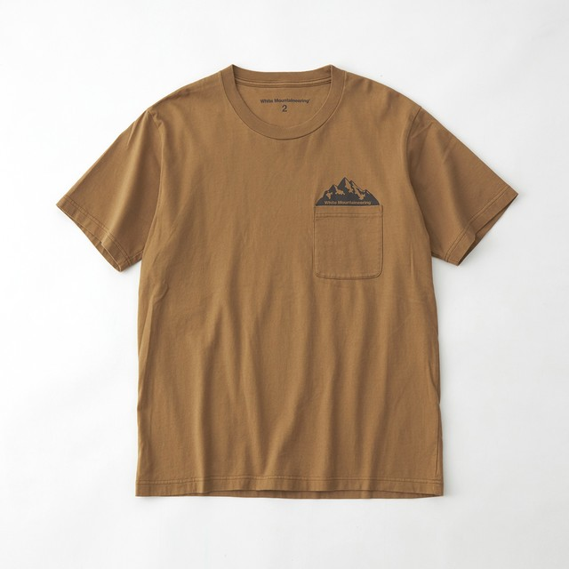 POCKET PRINTED T-SHIRT - BEIGE