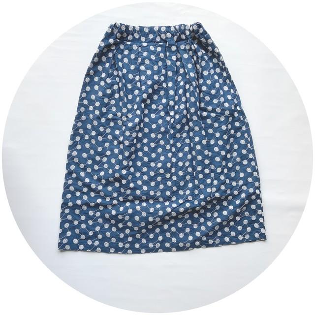 【フレアスカート】wish/ブルー/original textile《オーダー可能》