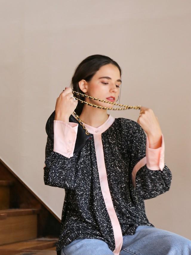 band collar blouse(pink)