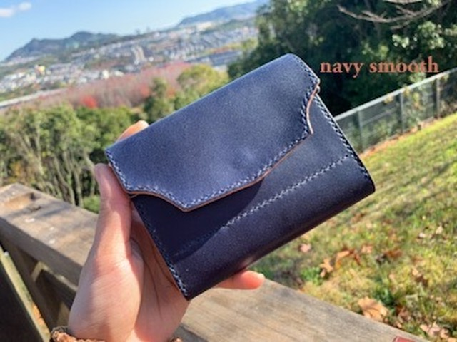 medium sumusu navy wallet