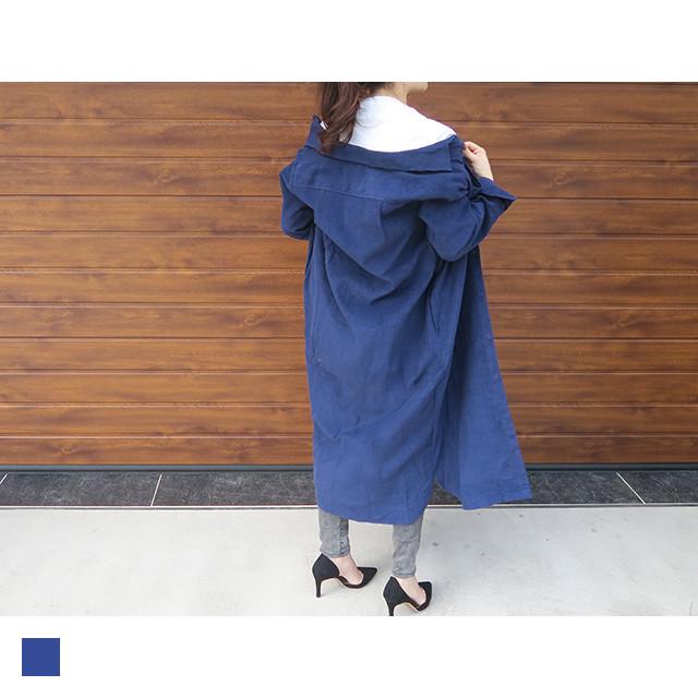 【追加予約】ロングコーデュロイシャツ|O10145