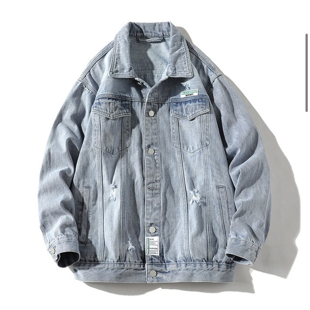 front tagged denim jacket PD2519