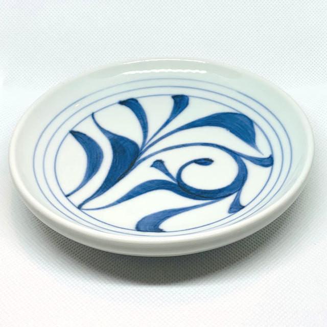 【砥部焼/梅山窯】6寸丸皿・切立(唐草)