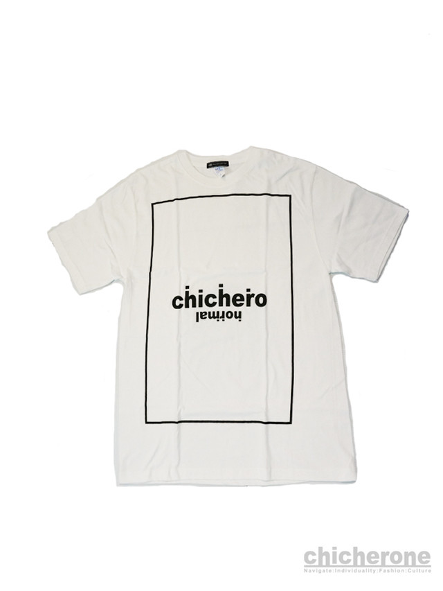 【chi che ro】Logocat embroidery T/S T.Blue xRed