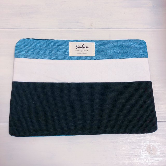 Denim clutch bag R45(Black)