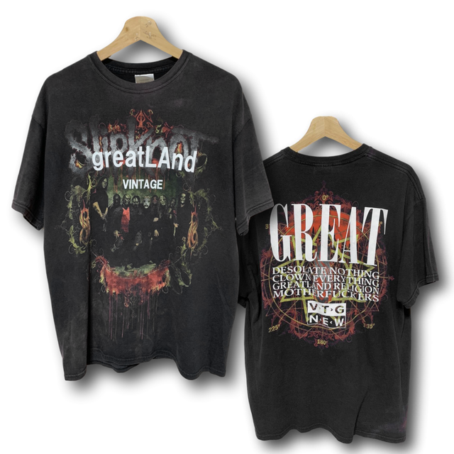 greatLAnd VINTAGE SLIPKNOT TEE BLACK LARGE
