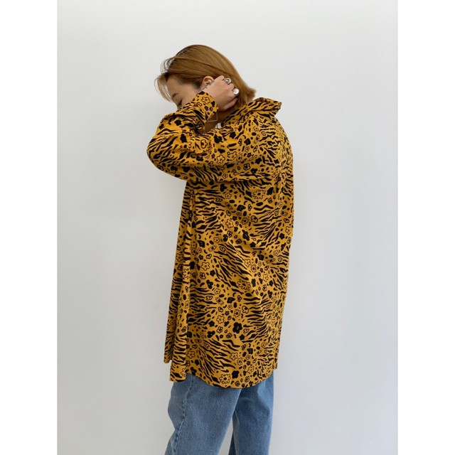 BAD・フラワーゼブラロングシャツ(1W11002E)