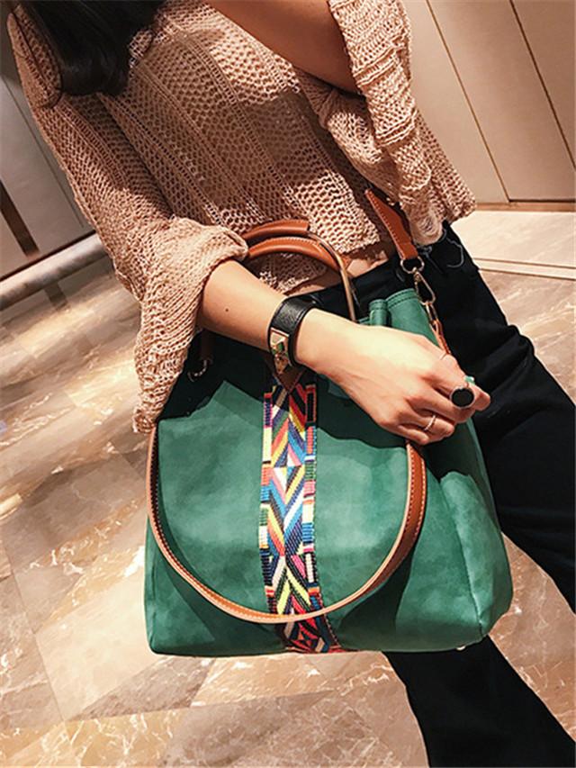 【小物】3色シンプル無地手持ちバッグ