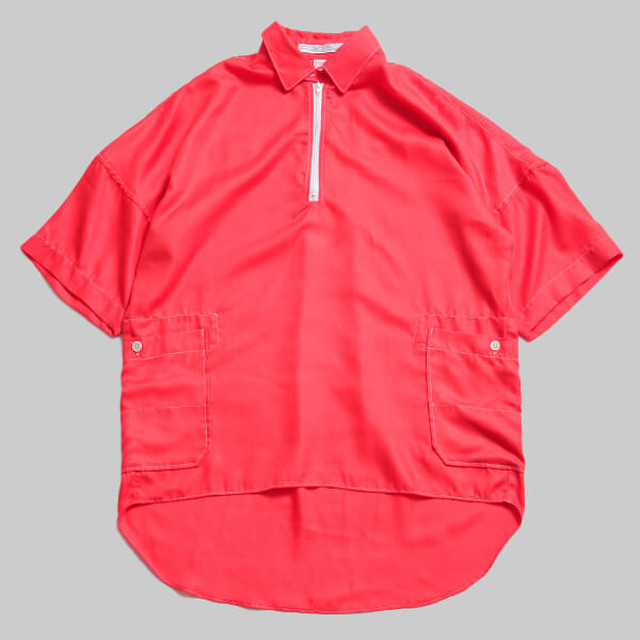 CC HALFZIP WORK  SHIRTS-ORANGE