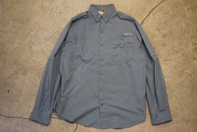 USED 00s Columbia PFG fishing L/S shirt -Medium S0575