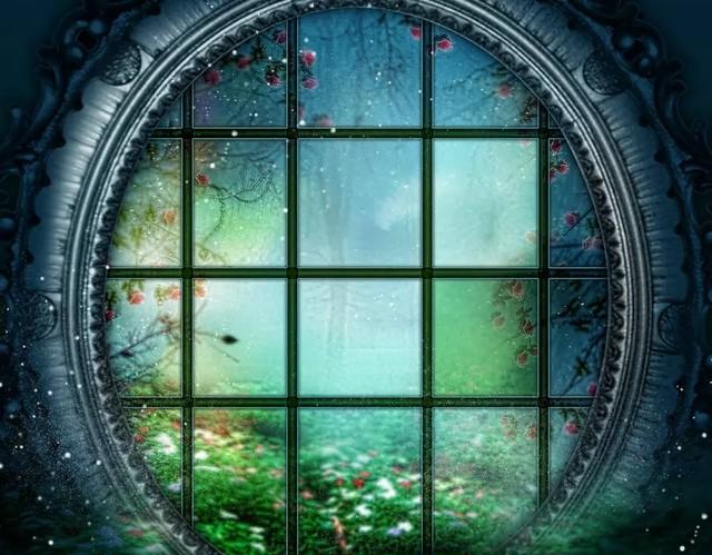 *送料無料*JB20ゴシックロリータ背景 薔薇の丸窓タペストリー背景200×200㎝