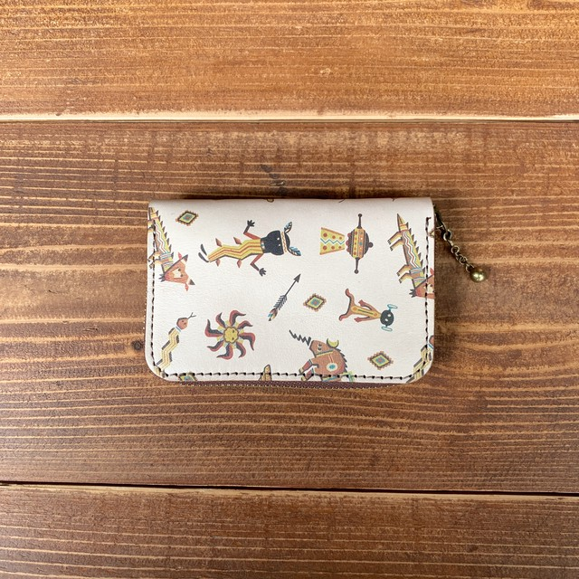 YONZY Space Indian leather RoundZipper CoinCard case