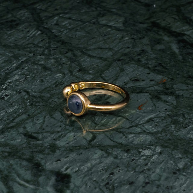 SINGLE MINI STONE OPEN RING GOLD 002