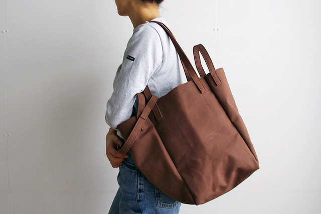 DROP SHOULDER TOTE BAG (オールコーヒー)