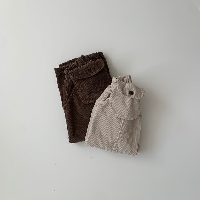 724. corduroy pants +bag