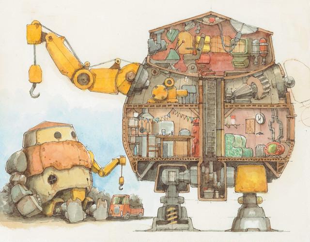 【とんかちしょうねん】原画「 ROBOT HOUSE 」