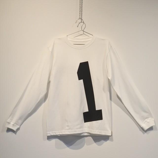 SKINN BY NOBU ロンスリーブTシャツ FRONT 「No.1」 BACK 「No.0」