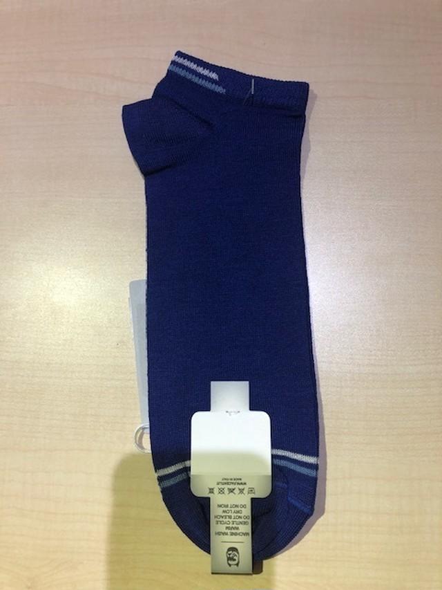 Facenti Men's Socks 5525UK DALI Col.InkBlue スニーカーに最適ショートソックス イタリア製