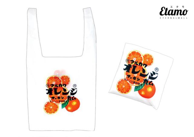 懐かしお菓子のエコバッグ【オレンジフーセンガム】