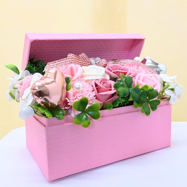 【ソープフラワー】ピンク 花畑 アレンジ