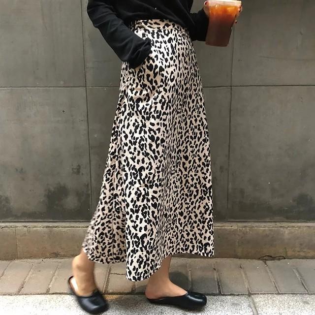Leopard Long Skirt♥