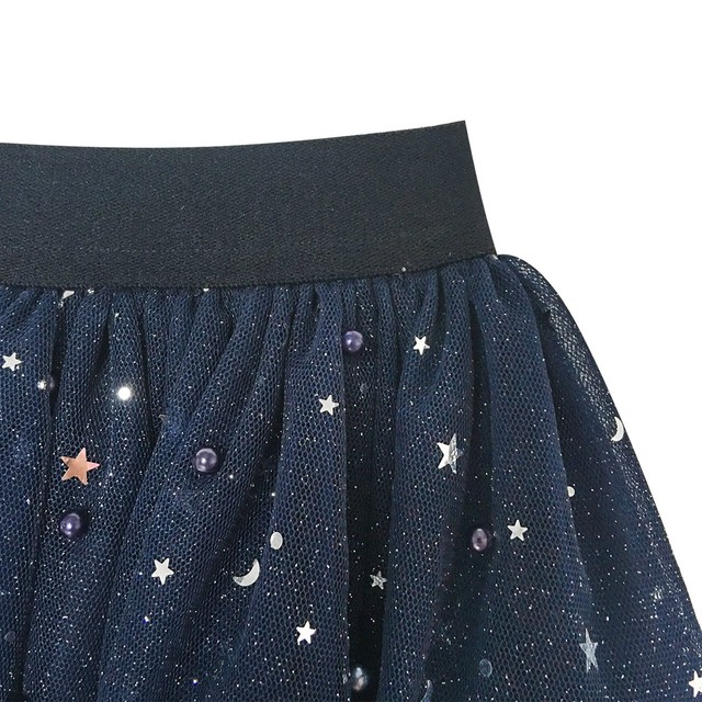 《school collection》 Skirt Navy Blue Pearl Stars Sparkling Tutu Dancing(送料無料)
