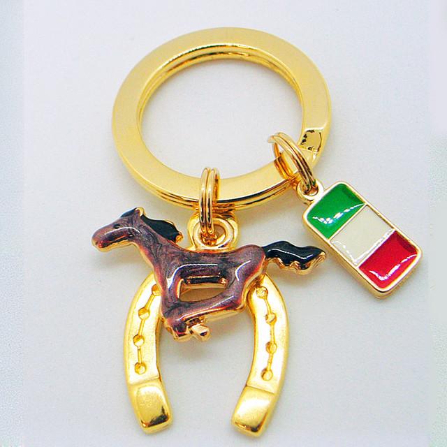 馬(うま・ウマ)10 キーリング 「良い方向へ走る・幸せ・仕事・学問」