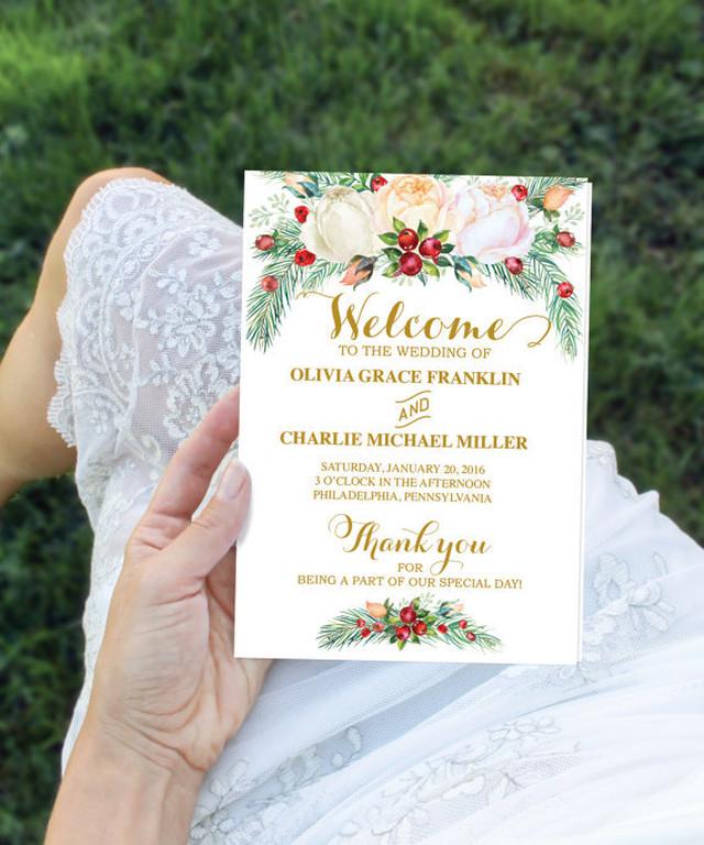 【WinterBerry】ゲストが何名でもこの値段♥︎自分で作る席次表&プログラムブックキット│結婚式